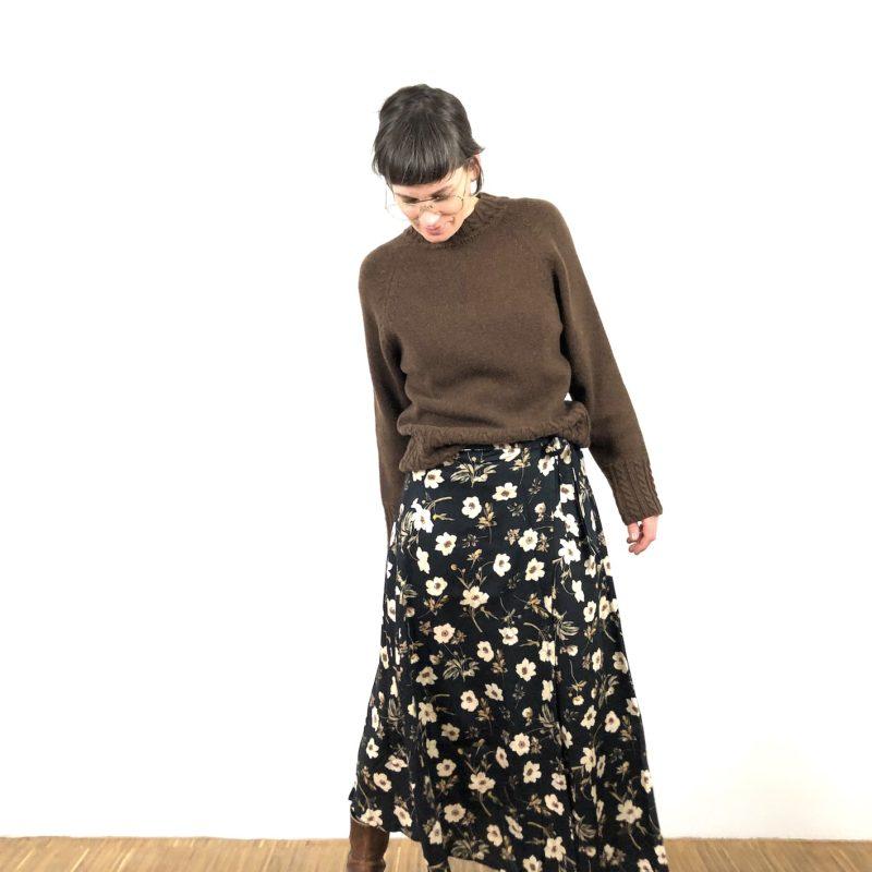 Strickpulli Mila mit Zopfdetail